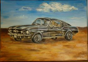 Black Mustang - '67 Fastback by TigaLioness