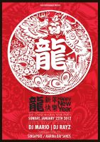 Chinese new year dragon flyer 2012 by Lemongraphic