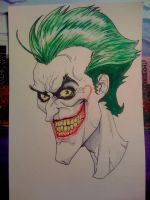 The Joker watercolor by inkone37