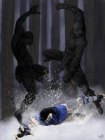 Noob Saibot vs Sub-Zero 1 by Grace-Zed