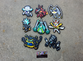 Ultra Beasts - Pokemon Perler Bead Sprites