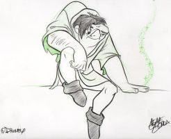 Art of Disney Parks: Quasimodo by BelleSura