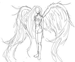 Wings Sketch by CannotTheGrammar
