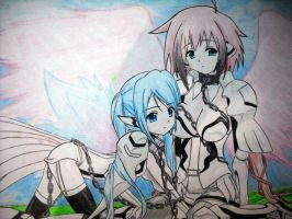 Ikaros and Nymph - Sora no Otoshimono by TaiKatsu05