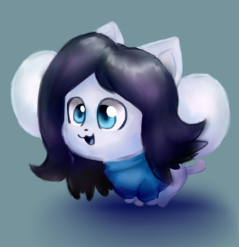 Temmie by Cookie-and-her-foxes
