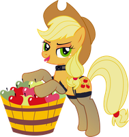 Applejack PNG by leopurofriki