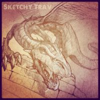 Dragon by Sketchytrav