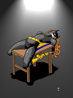 Batgirl Bowed And Bent by GrouchoM
