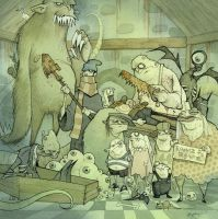 THE UNEARTHLY ONES 2011 by GrisGrimly