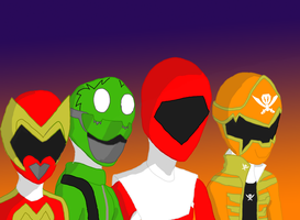 Power Ranger Family by Rae-Chan13