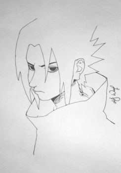Sasuke Lineart by sketched1