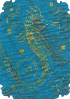 ATC: Golden Seahorse 3 of 4 by GillianIvy