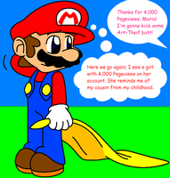 Mario's 4,000-Pageviewed Girl by HeartinaThePony