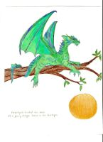 Dragon in treetops by hno3burns
