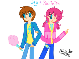 Ninjago/Friendship is magic: Jay and Pinkie Pie by strawberrybunny4341