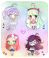 Chibi Adopts (SOLD) by mochatchi