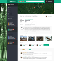 WhoHunts - Hunter social network page by Zalehy