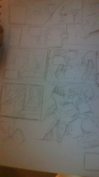 COMIX ZONE- page 1 early sketch by GavinDragon