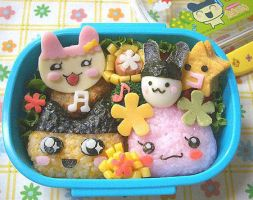 Tamagotchi Bento by MzHellnoKitty