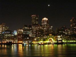 Boston at Night by KatTheFoxtaur