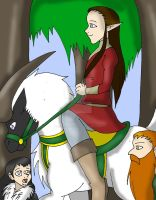 Oron and his Dawrfs off on their advenutre by CathyMouse2010