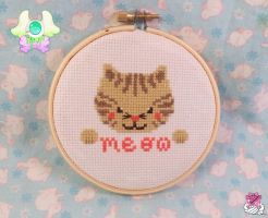 Kitty Cross Stitch by SadFlowerPrince