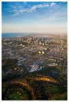 Melbourne From Above by banjoeskimo