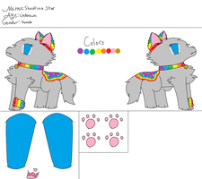 Shooting Star Ref Sheet by BlossomTehKat