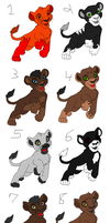 Adoptable Lions -Closed- by Agony-Wolf