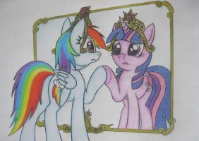 Mare in the Mirror by spectrum-sparkle