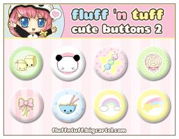 Cute Buttons 2 by Fluffntuff