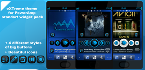 eXTreme skin for widget PowerAmp by Karsakoff