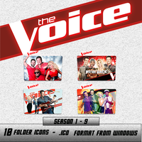 Pack The Voice US Folder Icons by HeisenbergLeao