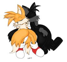 Merrick and Tails: Nap time 2 by RoninHunt0987
