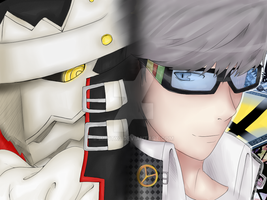 Izanagi And Protagonist by iMintx3