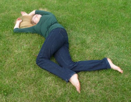 lying on the grass 2 by indeed-stock