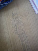 Winter - school desk drawing by kixi360
