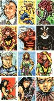 X-Men Archives Cards 5 by Axebone
