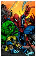 Avenging Spiderman by Ta2dsoul