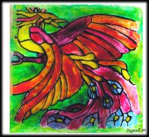 Phoenix Stained Glass by IngwellRitter
