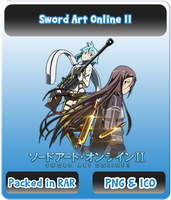 Sword Art Online II - Anime Icon by Rizmannf