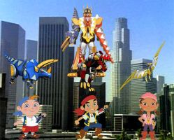 Jake and Pirates Desktop Power Rangers Dinothunder by JackandAnnie180