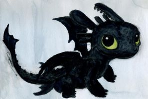 Chibi Toothless II by Xanderlicous
