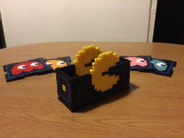 Pac-Man Coaster Set by 16bitsofplastic