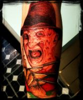 freddy krueger tattoo by Inkedromeo18