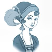 1920s girl by Emmi-Lou-Art
