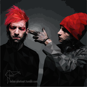 PolyFriday #26 TWENTY ONE PILOTS (+speed art) by DEliAs7