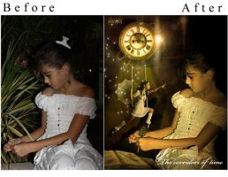 before-after The corridors of by Rafido