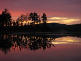 Adirondacks at sunset by thinksneg