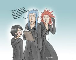 Dont laugh Xion by jojo56830